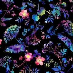 Electric Garden - Pressed Flowers in Light Bright (digital spectrum print)