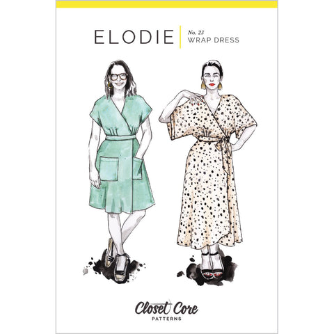 Closet Core Patterns - Elodie Wrap Dress Pattern (paper)
