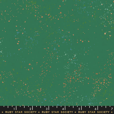 Speckled in Emerald Green Metallic