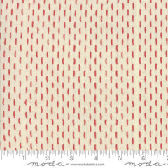French Sashiko Woven in Pearl Red