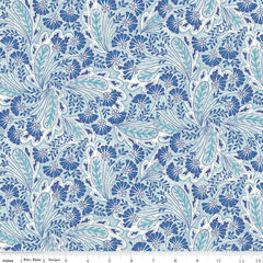 Feather Dance in Blue - Last Fat Quarter