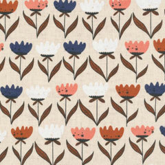 Flower Friends in Natural Organic Cotton / Linen Blend