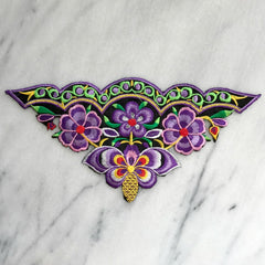 Embroidered Flower Patch in Purple (large)