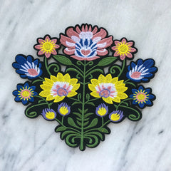 Embroidered Floral Patch (large)