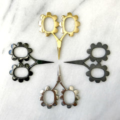 Flower Power Scissors (Neutral Colors)