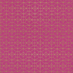 Geo Grid in Fuschia Metallic