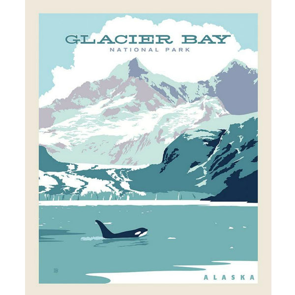 National Parks Glacier Bay Poster PANEL in Ice