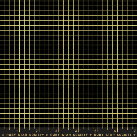 Grid in Black / Gold Metallic