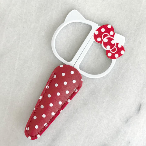 "Hello Kitty Bow Embroidery Scissors with Case (4.25"")"