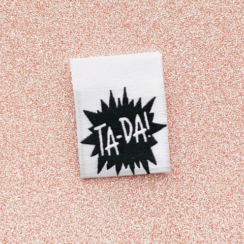 Woven Labels - Ta-Da! (pack of 8)