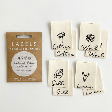 Woven Labels - Natural Fibers Collection (pack of 8)