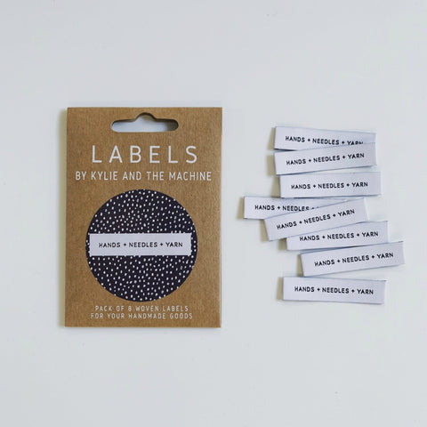 Woven Labels - Hands + Needles + Yarn (pack of 8)