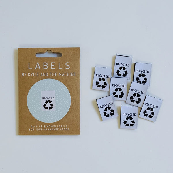 Woven Labels - Recycled (pack of 8)