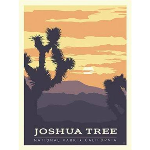 National Parks Joshua Tree Poster PANEL in Sunrise