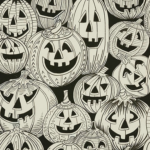 Jack O'Laughter in Black & White - Last Fat Quarter