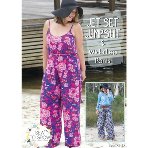 Sew to Grow - Jet Set Jumpsuit & Wide Leg Pants Pattern (paper)