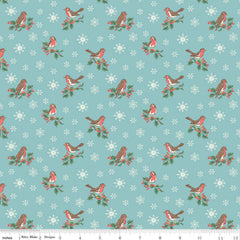 Jolly Robin A in Light Blue - Last Fat Quarter