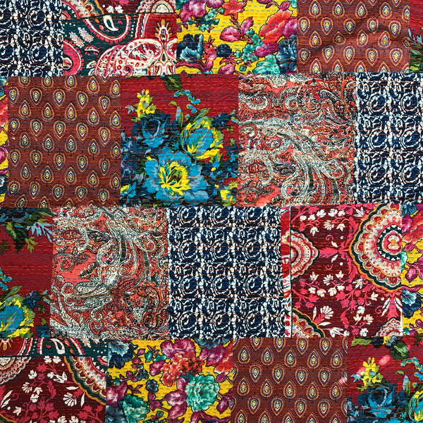 Kantha Hand Embroidered in Boho Flora