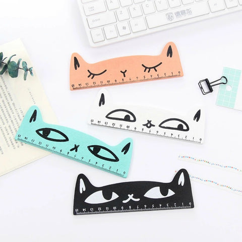 Kitty Cat Wooden Ruler