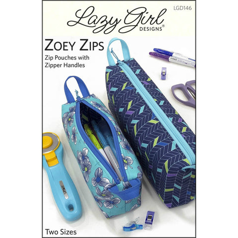 Lazy Girl Designs - Zoey Zips Pouch Pattern (printed paper)