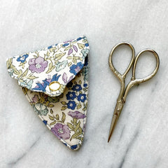 Liberty of London Scissors & Sheath in Blue & Purple Floral