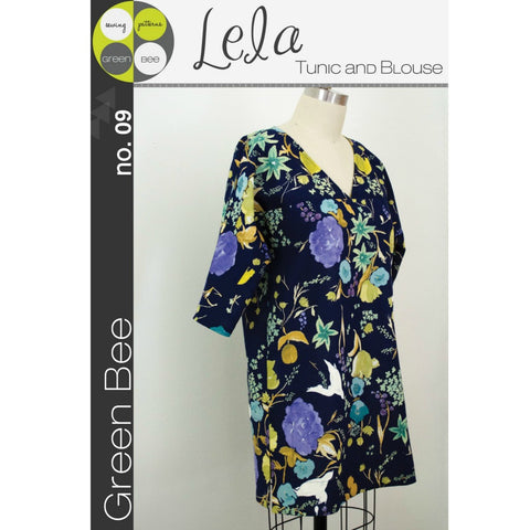 Green Bee Patterns Lela Tunic and Blouse Pattern (paper) no. 9