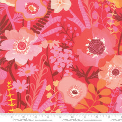 Botanica Large Floral in Geranium - Last Fat Quarter