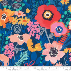 Botanica Large Floral RAYON in Navy