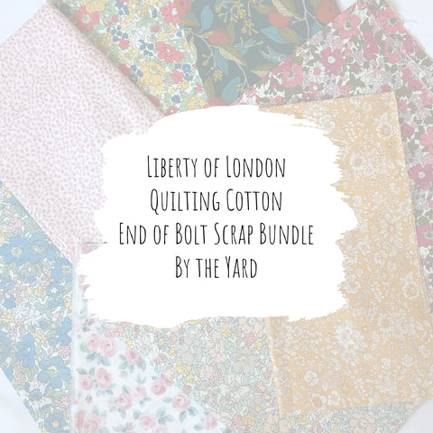Liberty of London Quilting Cotton - End of Bolt Scrap Bundle (By the Yard)