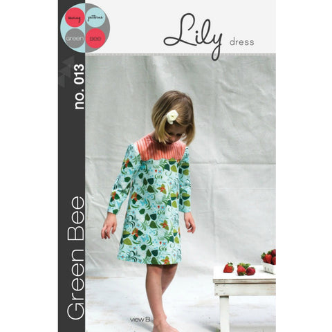 Green Bee Patterns Lily Dress Pattern (paper) no. 13
