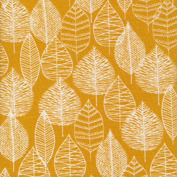 Line Leaf MATTE LAMINATE in Gold Organic