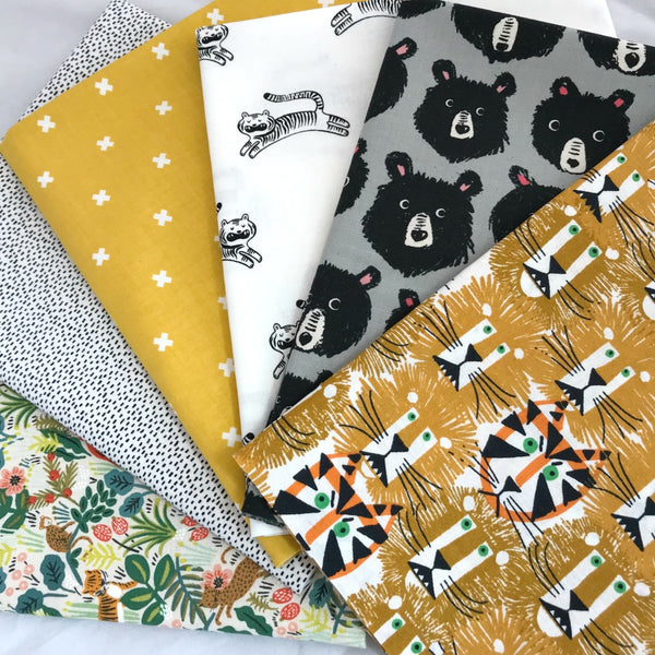 Lions, Tigers and Bears Oh My! Fat Quarter Bundle