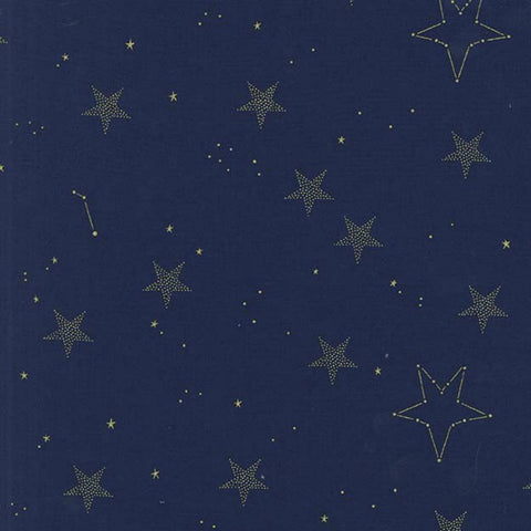 Lucky Stars in Navy Metallic
