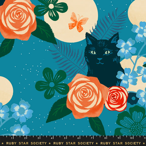 Magic Cat RAYON in Teal