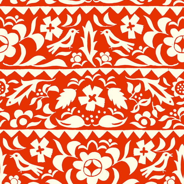 Market Floral RAYON in Red