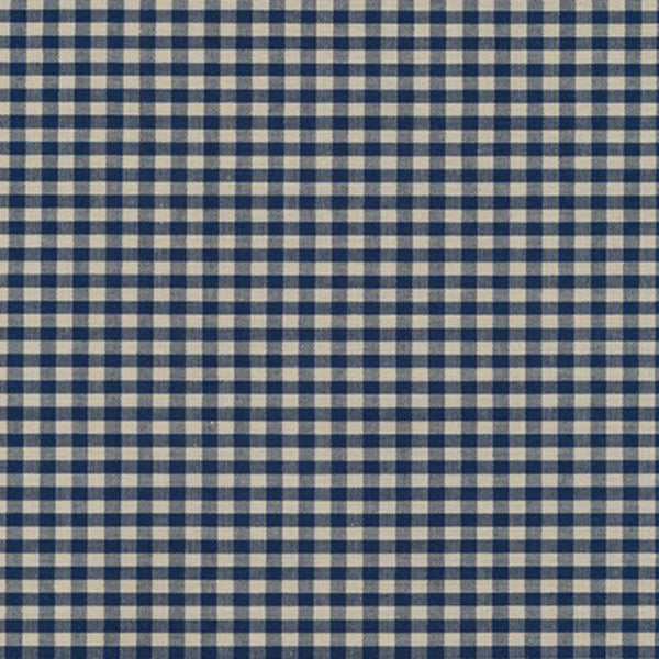 "Crawford Gingham 1/8"" in Navy"