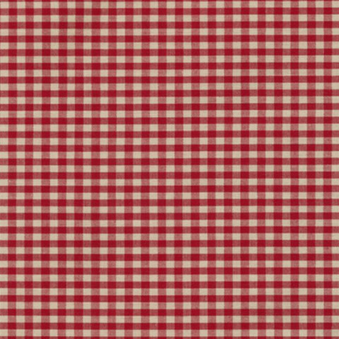 "Crawford Gingham 1/8"" in Wine"