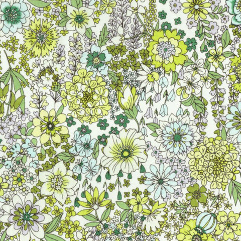 Garden Floral COTTON LAWN in Green Apple