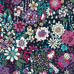 Garden Floral COTTON LAWN in Navy