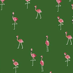 Mini Flamingos in Green