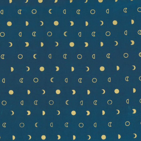 Moons in Navy / Gold Metallic
