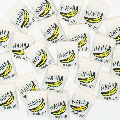 Woven Labels - Nana Made It (pack of 8)