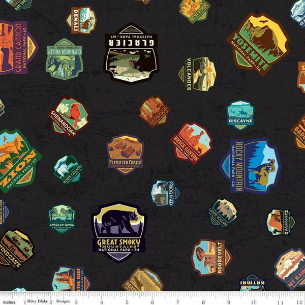 National Parks Patches in Black