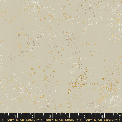Speckled in Natural / Gold Metallic