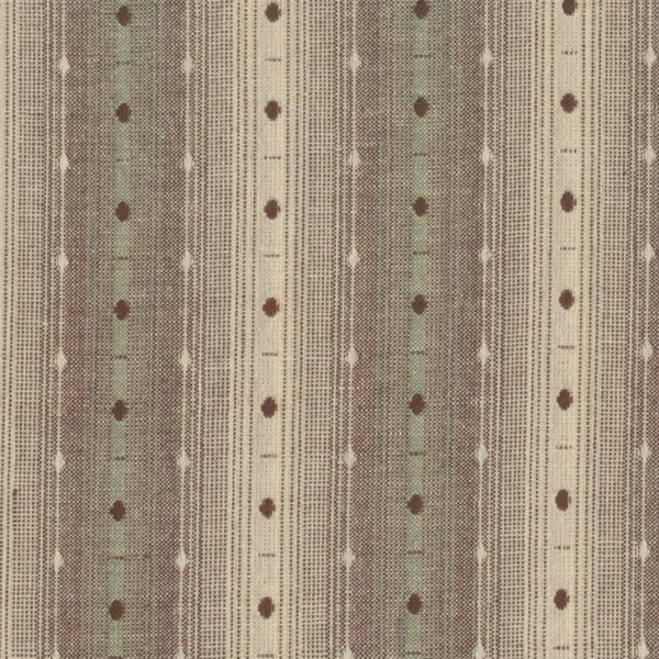 Nikko Embroidered Stripe in Mint Chocolate Woven