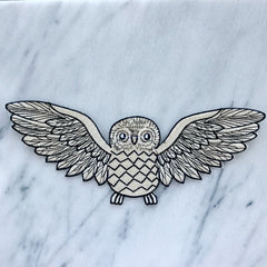Embroidered Owl Patch (large)