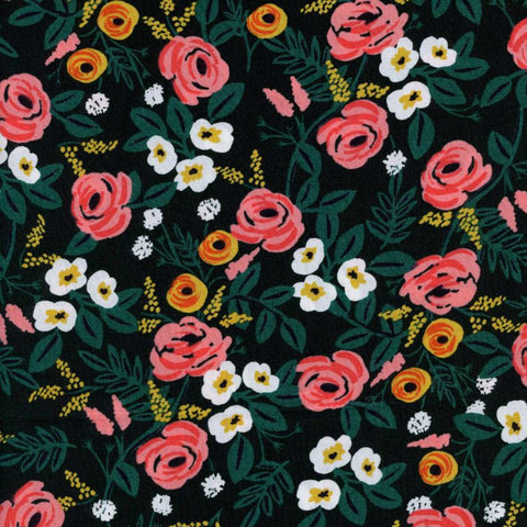 Paint Roses RAYON in Black