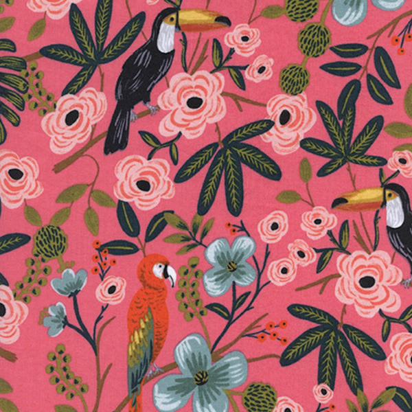 Paradise Garden RAYON LAWN in Coral