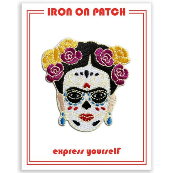 The Found - Frida Day of the Dead Iron On Patch