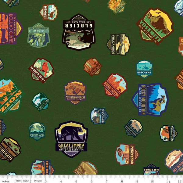 National Parks Patches in Green